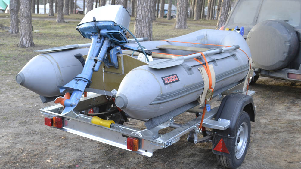 Модернизация прицепа для перевозки лодки ПВХ